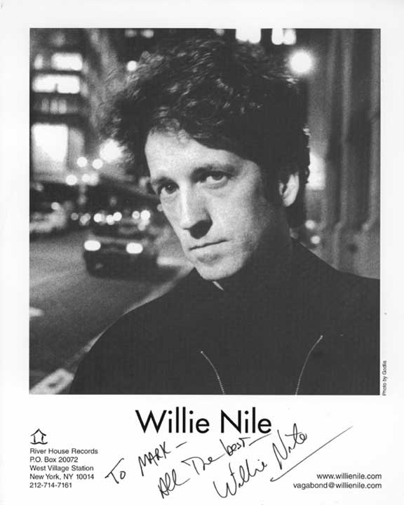Picture of Willie Nile autographed to me!